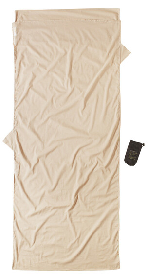 Cocoon Insect Shield TravelSheet Inlet Egyptian Cotton sand
